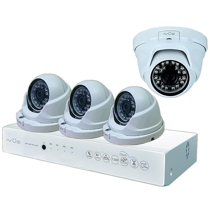 iVue D5004 AHC-D4 Для Дома и Офиса 4+4 комплект видеонаблюденияIVUE-D5004 AHC-D4Комплект видеонаблюдения iVue D5004 AHC-D4 Для Дома и Офиса 4+4 - это профессиональный набор систем охранного видеонаблюдения за вашим бизнесом, домом, дачей и т.д. Комплект включает в себя видеорегистратор AHD и 4 внутренние видеокамеры с разрешением сенсора 1 Мпикс, которые прекрасно подойдут к интерьеру любого помещения.AHD - самая современная технология кодирования и передачи видеоизображения по коаксиальному кабелю. Она позволяет передавать изображение с разрешением до 2 Мпикс на расстояние до 500 метров без потери качества изображения.Вы можете наблюдать за вашей собственностью из любой точки мира через интернет с помощью компьютера, планшета или смартфона. Простота подключения обеспечивается облачной технологией P2P. У вас так же есть возможность дополнить этот набор одной или двумя камерами по вашему выбору.Жесткий диск для этого набора приобретается отдельно и может иметь размер до 4 ТБ, что позволит вам поддерживать архив до 2-х месяцев без потери качества изображения. Набор укомплектован наклейкой Внимание! Ведется видеонаблюдение, что позволит предупредить многие правонарушения заблаговременно.Режимы записи: ручная/по расписанию/по движениюWAN RJ45 разъём: 10/100 Мбит/сОС: Linux