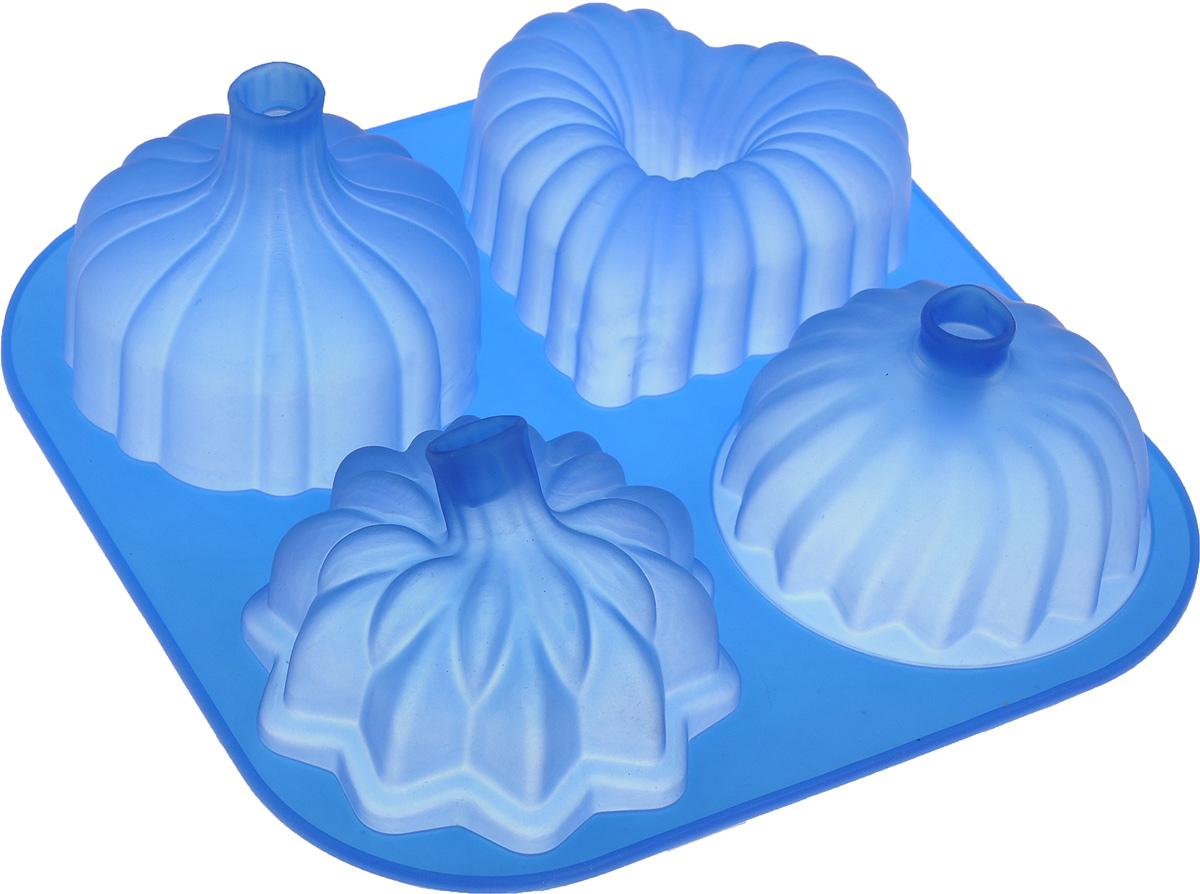 Форма для выпечки Mayer & Boch, силиконовая, цвет: синий, 4 ячейки20036_синийФорма Mayer & Boch выполнена из силикона и предназначена для изготовления выпечки, желе или льда. Изделие имеет 4 ячейки, которые различаются по размеру и форме.Оригинальный способ подачи изделий не оставит равнодушным родных и друзей. Форма выдерживает от -40°С до +210°С. Она эластична, износостойка, легко моется, не горит и не тлеет, не впитывает запахи, не оставляет пятен.Силикон абсолютно безвреден для здоровья.Можно мыть в посудомоечной машине. Средний размер ячейки: 8 х 8 х 3 см. Как выбрать форму для выпечки – статья на OZON Гид.