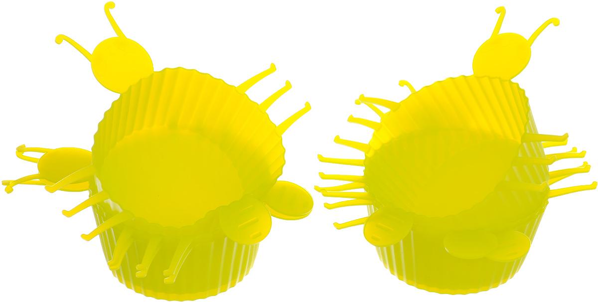 Набор форм для выпечки Mayer & Boch Букашка, цвет: салатовый, 6 шт3721_салатовыйНабор Mayer & Boch Букашка состоит из шести форм для выпечки, изготовленных из высококачественного силикона. Если вы любите побаловать своих домашних вкусным и ароматным угощением по вашему оригинальному рецепту, то набор форм Mayer & Boch Букашка как раз то, что вам нужно!Объем формы: 75 мл.Размер формы: 10 х 11 х 3 см. Как выбрать форму для выпечки – статья на OZON Гид.