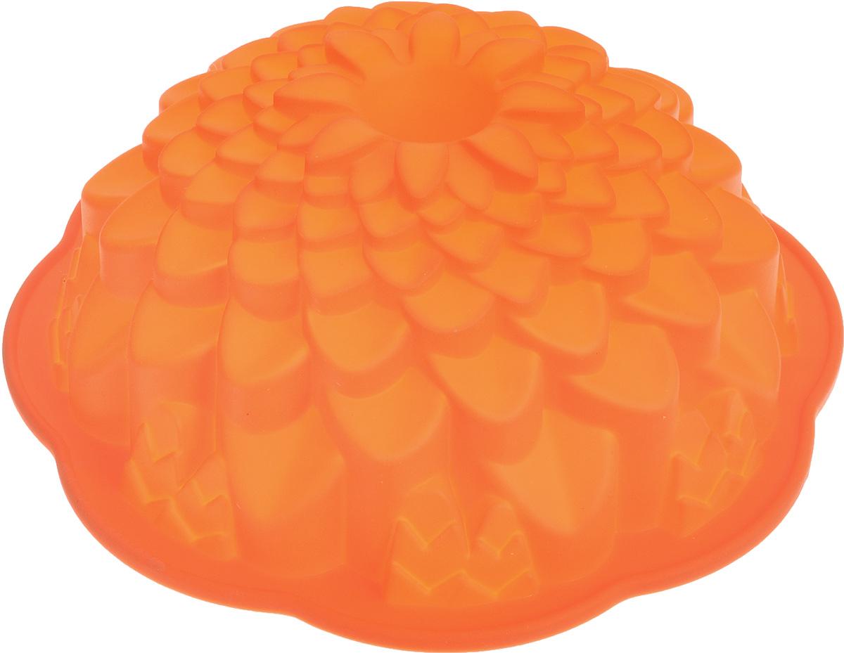 Форма для выпечки кекса Mayer & Boch Хризантема, круглая, цвет: оранжевый, диаметр 22 см21975_оранжевыйКруглая форма Mayer & Boch Хризантема будет отличным выбором для всех любителейвыпечки. Благодаря тому, что форма изготовлена из силикона, готовую выпечкувынимать легко и просто. Стенки формы оснащены рельефной поверхностью. Формапрекрасно подходит для выпечки кексов.С такой формой вы всегда сможете порадовать своих близких оригинальнойвыпечкой. Материал изделия устойчив к фруктовым кислотам, может бытьиспользован в духовках, микроволновых печах, холодильниках (выдерживаеттемпературу от -40°C до 230°C).Можно мыть в посудомоечной машине. Диаметр (по верхнему краю): 22 см. Высота стенок: 8 см.