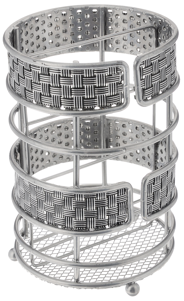 """Подставка для столовых приборов """"Mayer & Boch"""",  изготовленная из высококачественного металла с  хромированным покрытием и нейлона, оснащена  тремя круглыми ножками, которые обеспечивают  ей устойчивость на любой поверхности.  Красивая подставка для столовых приборов  выполнена в оригинальном дизайне. Она не  займет много места, а столовые приборы будут  всегда под рукой."""