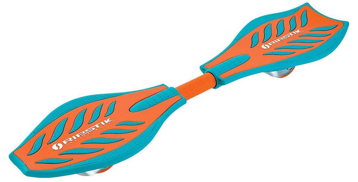 Роллерсерф Razor RipStik, цвет: бирюзовый, оранжевый, длина деки 84 см050611Балансирующий скейтборд Razor Ripstick с двумя колесами - отличный выбор для опытных скейтбордистов, а также людей, любящих активно проводить время. Колеса скейтборда выполнены из прочного полиуретана и вращаются на 360°. Дека оснащена рельефным покрытием, благодаря чему ноги не скользят во время катания. В последнее время экстремальные виды спорта, такие как катание на скейтборде, становятся очень популярными. Скейтбординг - это зрелищный и экстремальный вид спорта, представляющий собой катание на роликовой доске с преодолением препятствий и выполнением различных трюков.