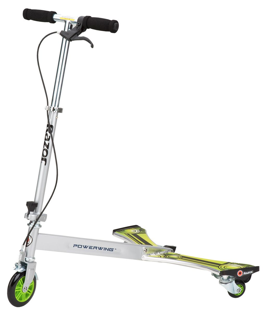 Самокат-тридер Razor Powerwing DLX, цвет: металлик, зеленый