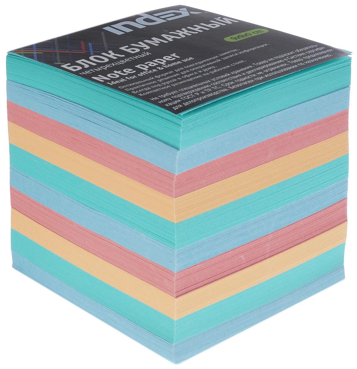 Index Блок для записей многоцветный цвет зеленый синий красный оранжевый
