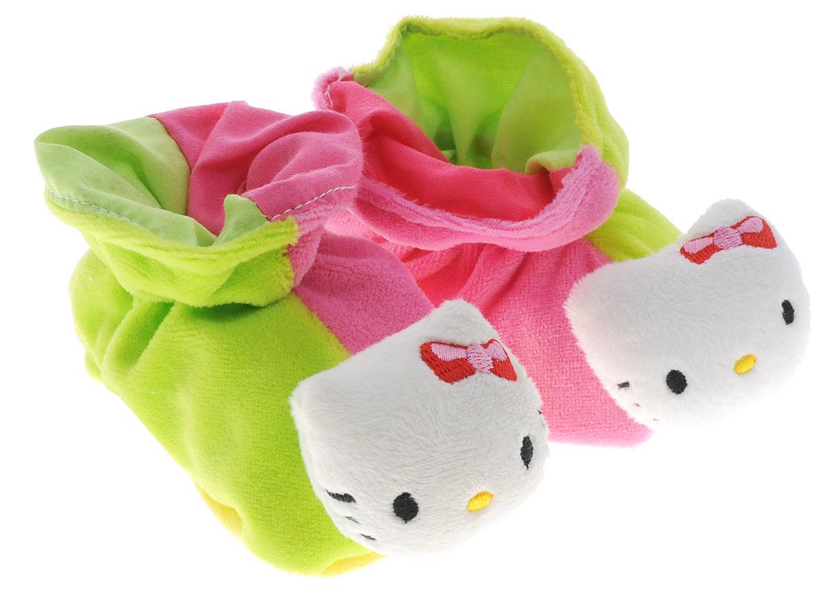 Hello Kitty Игрушка-погремушка Тапочки цвет розовый салатовый обувь и пинетки simba тапочки погремушки hello kitty