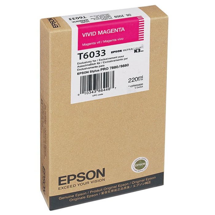 Epson T6033 (C13T603300), Vivid Magenta картридж для Stylus PRO 7880/9880 - Расходные материалы