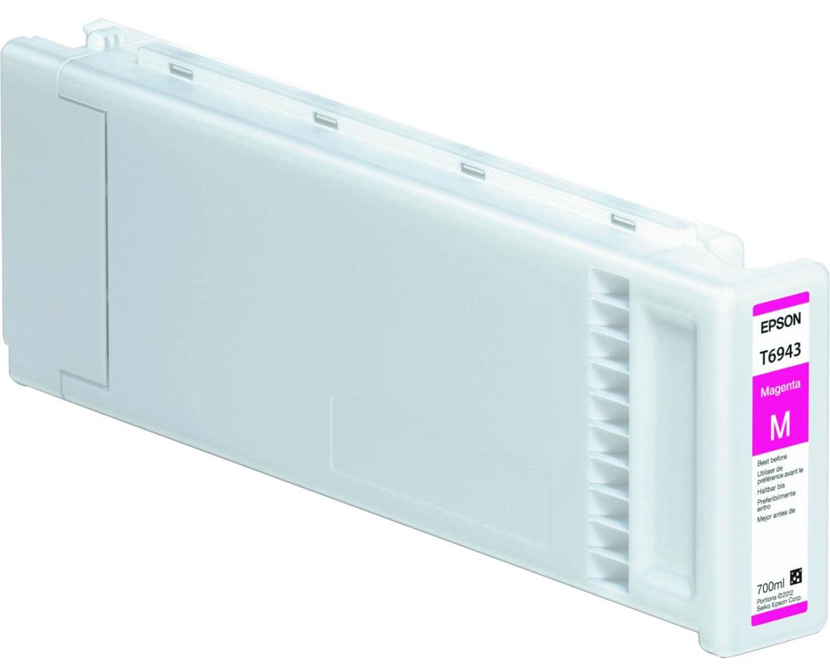 Epson T6943 (C13T694300), Magenta картридж для T3000/5000/7000C13T694300Картридж Epson T6943 для струйных принтеров Epson SureColor SC-T3000/5000/7000.Расходные материалы Epson для печати максимизируют характеристики принтера. Обеспечивают повышенную четкость изображения и плавность переходов оттенков и полутонов, позволяют отображать мельчайшие детали изображения. Обеспечивают надежное качество печати.