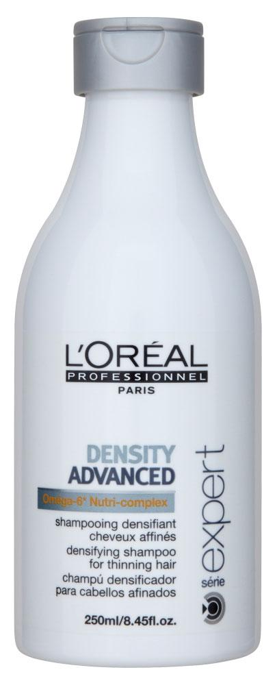 LOreal Professionnel Шампунь для укрепления волос Expert Density Advanced - 250 млE0198333Шампунь для укрепления волос Денсити Эдванст дарит вторую жизнь ослабленным и истонченным волосам. Содержит Нутри-комплекс и Омега-6, которые питают и восстанавливают волосы. Витамины РР и В6 делают волосы эластичными и блестящими. Используя шампунь Денсити Эдванст, вы вернете своим волосам силу и объем и сделаете их более послушными.