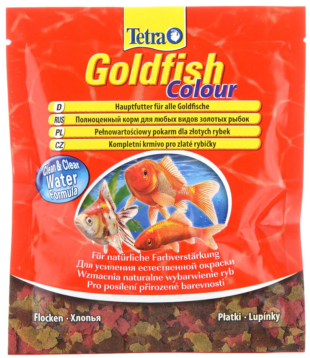 Корм Tetra Goldfish. Colour для улучшения окраса всех видов золотых рыб, хлопья, 12 г корм tetra marine xl flakes для любых морских рыб крупные хлопья 500 мл 80 г