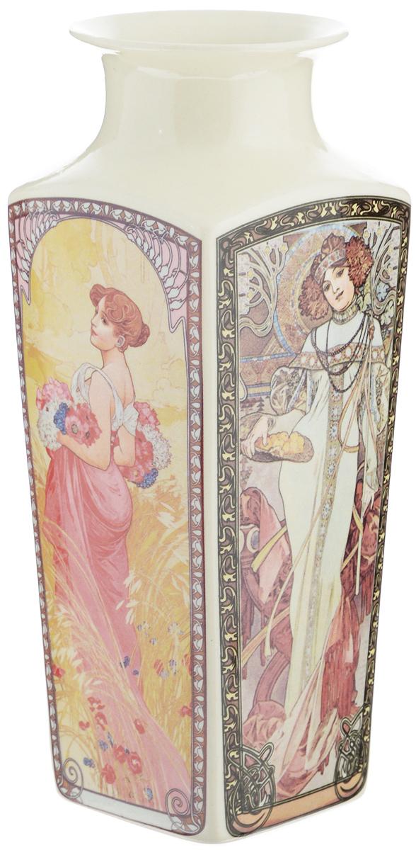 """Стильная ваза Elan Gallery """"Времена года"""" изготовлена из высококачественного фарфора. Интересная форма и необычное оформление сделают эту вазу замечательным украшением интерьера. Аксессуар с расширенным горлышком вместит в себя достаточно пышный букет. Более того, в вазе с интересной текстурой превосходно будут смотреться декоративные веточки и сухоцветы.Любое помещение выглядит незавершенным без правильно расположенных предметовинтерьера. Они помогают создать уют, расставить акценты, подчеркнуть достоинства или скрытьнедостатки."""