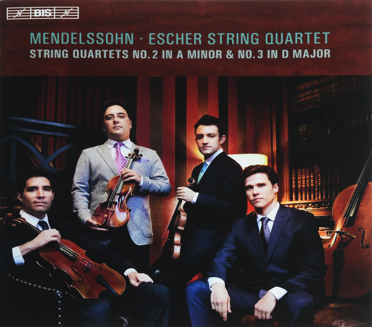 Escher String Quartet Escher String Quartet. Mendelssohn. String Quartets Nos 2 & 3 (SACD) emerson string quartet complete string quartets mendelssohn emerson string quartet 4 cd