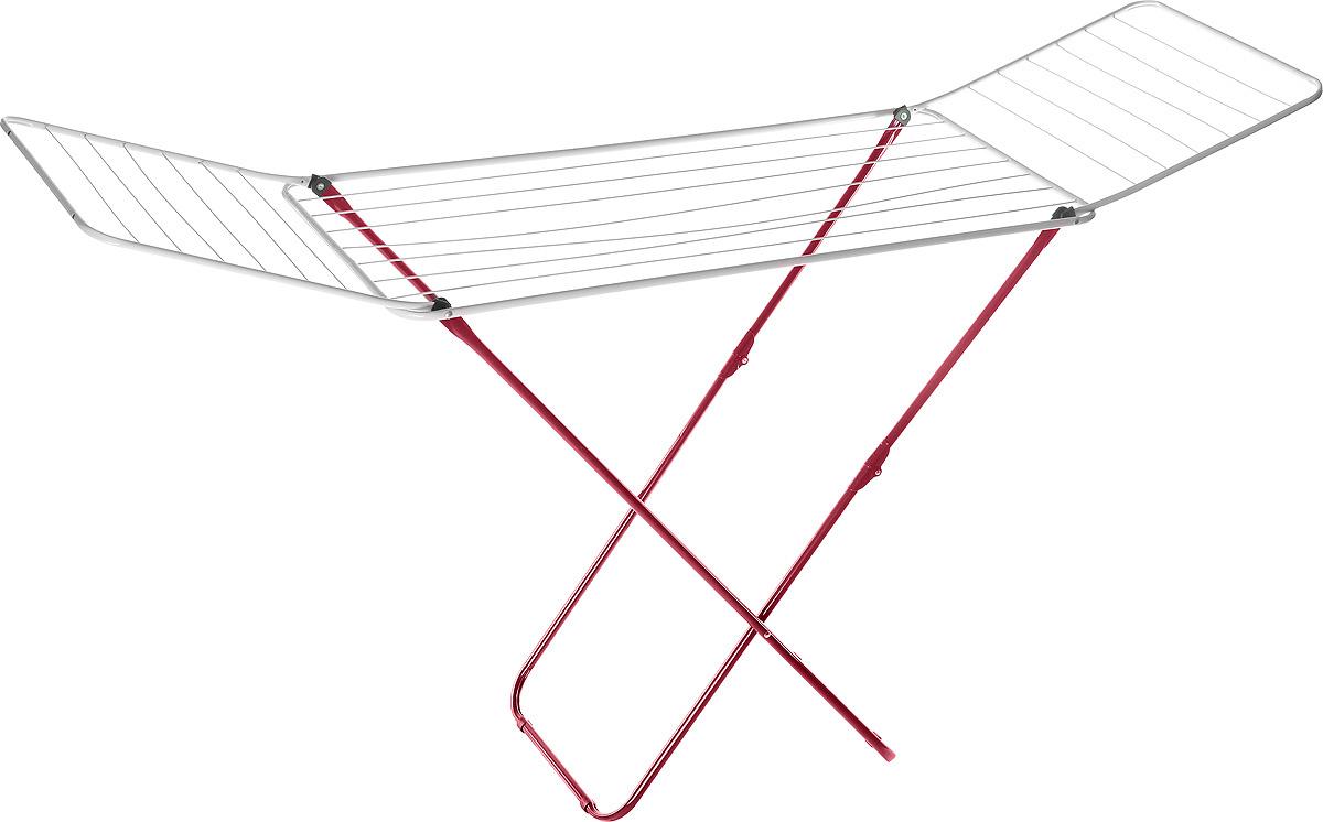 Сушилка для белья Mayer & Boch, цвет: красный, белый, 180 х 50 х 108 см9613Сушилка для бельяMayer & Boch, изготовленная из металла, проста и удобна в использовании. Идеально подходит для любых помещений. Также сушилка имеет распашные створки для более удобной сушки белья.Защитные пластиковые уголки на ножках предотвратят появление царапин на полу.Сушилка для белья легко складывается и в таком состоянии занимает мало места, потому вам легко будет убрать ее в любое удобное для вас место.Размер сушилки в разложенном виде: 180 х 50 х 108 см.Размер сушилки в сложенном виде: 50 х 5 х 125 см.