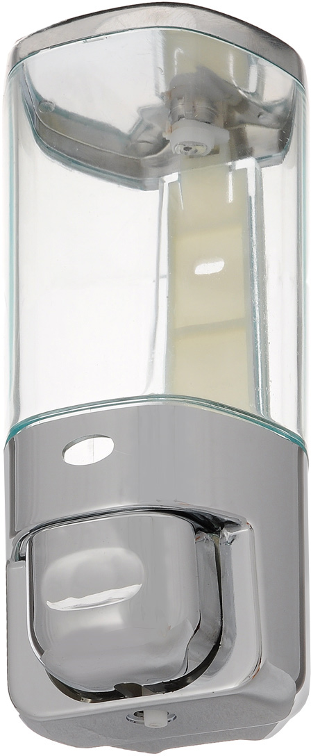 """Дозатор для жидкого мыла """"Argo"""" выполнен из пластика с покрытием из хрома. Такой аксессуар  очень удобен в использовании, достаточно лишь перелить жидкое мыло в дозатор, а когда  необходимо использование мыла, легким нажатием выдавить нужное количество.  Крышка дозатора закрывается на ключ.  При чистке изделия рекомендуется применять влажную губку, смоченную в воде, затем вытереть  насухо тканью. Не допускается применение абразивных моющих средств, а также содержащих  хлор, кислоты, щелочи либо спирт.  Дозатор для жидкого мыла """"Argo"""" создаст особую атмосферу уюта и максимального комфорта в  ванной. В комплект входит: крепежная планка, ключ, крепеж, дозатор.  Размер дозатора: 8 х 8 х 18 см. Объем дозатора: 450 мл."""