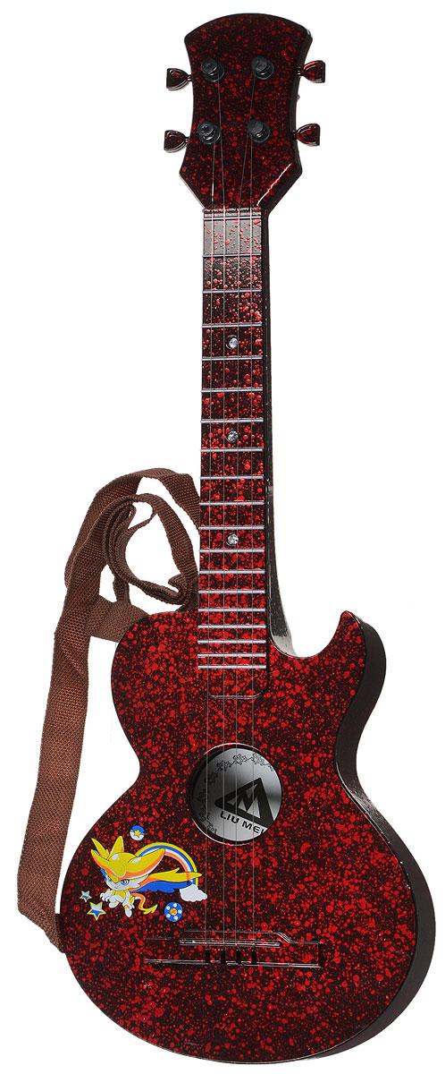 ABtoys Музыкальная игрушка Гитара акустическая simba музыкальная гитара на батарейках свет звук 43 5 см 4010529