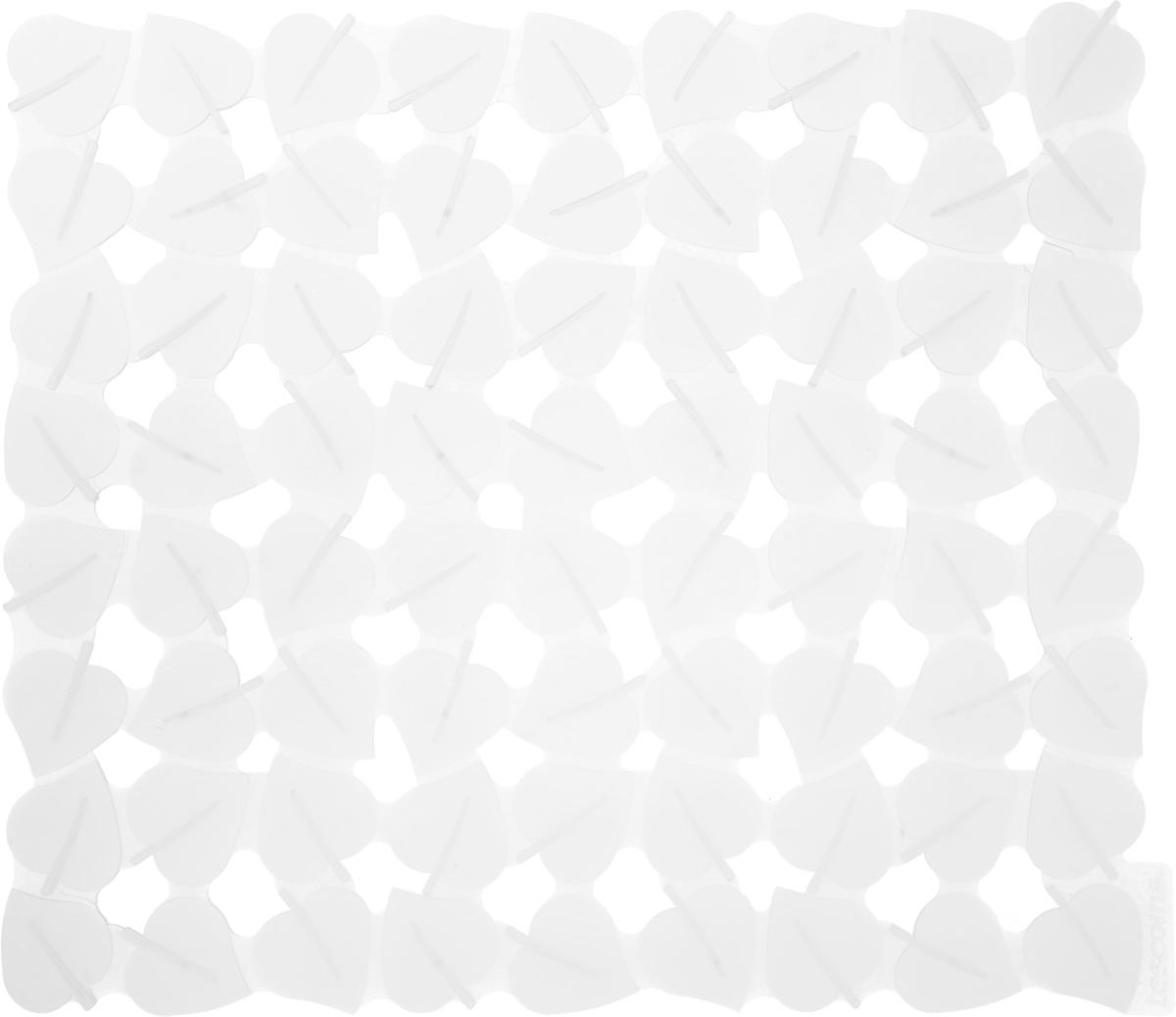 Коврик для раковины Tescoma Листочки, цвет: прозрачный, 32 x 28 см900637_прозрачныйСтильный и удобный коврик для раковины Tescoma Листочки изготовлен из эластичного пластика. Он одновременно выполняет несколько функций: украшает, защищает мойку от царапин и сколов, смягчает удары при падении посуды в мойку. Коврик также можно использовать для сушки посуды, фруктов и овощей. Он легко очищается отгрязи и жира.Можно мыть в посудомоечной машине.