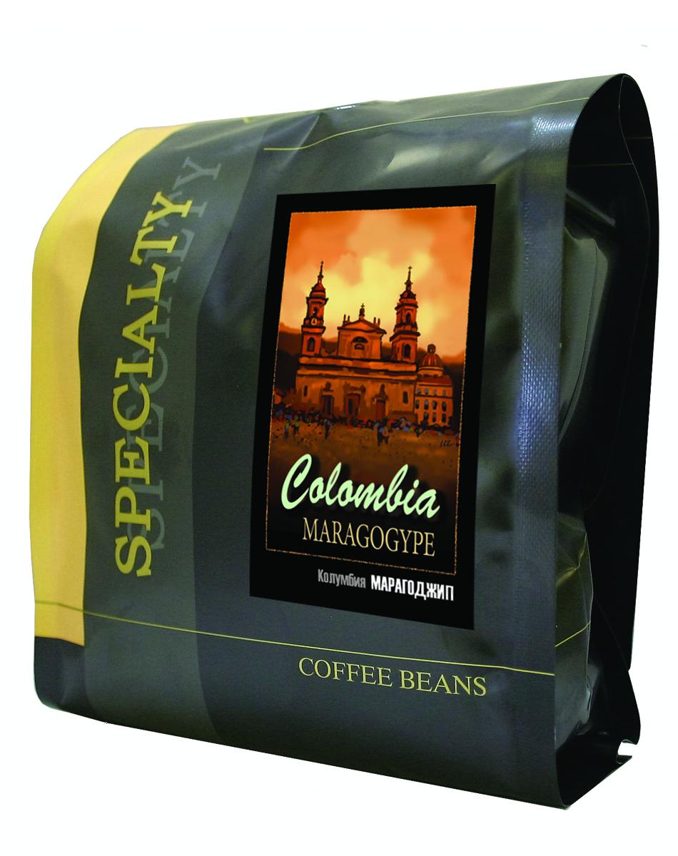 Блюз Марагоджип Колумбия кофе в зернах, 500 г блюз эспрессо форте кофе молотый в капсулах 55 г