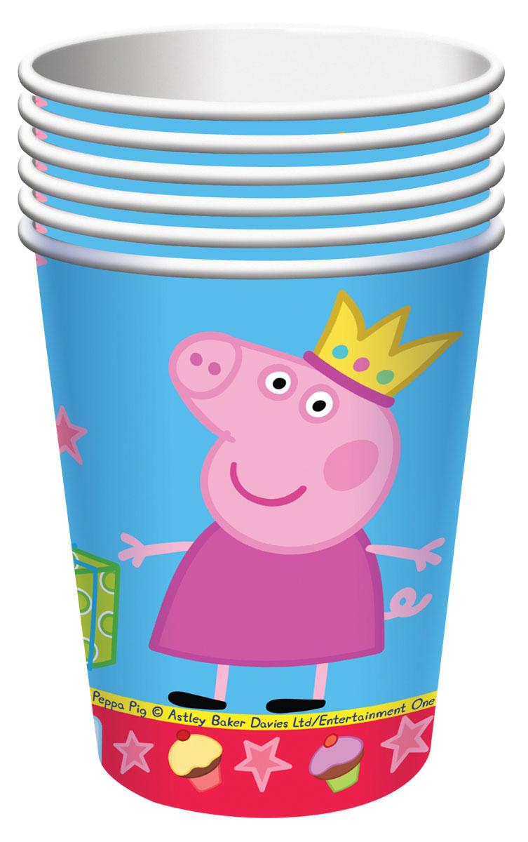Peppa Pig Стакан Пеппа-принцесса 210 мл 6 шт стаканы бумажные peppa pig пеппа принцесса 220 мл 6шт