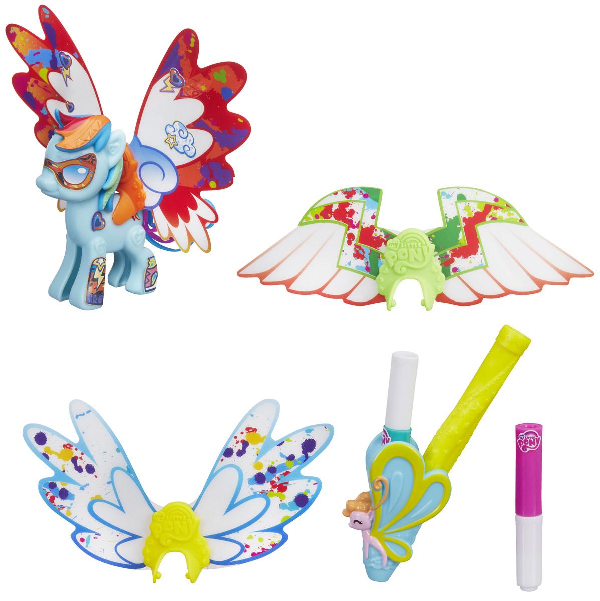 My Little Pony Фигурка Создай свою пони с крыльями Rainbow Dash my little pony игровой набор design a pony rainbow dash