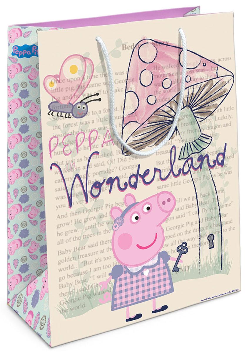 Peppa Pig Пакет подарочный Страна чудес Пеппы 35 х 25 х 9 см peppa pig пакет подарочный пеппа и сьюзи 35 х 25 х 9 см