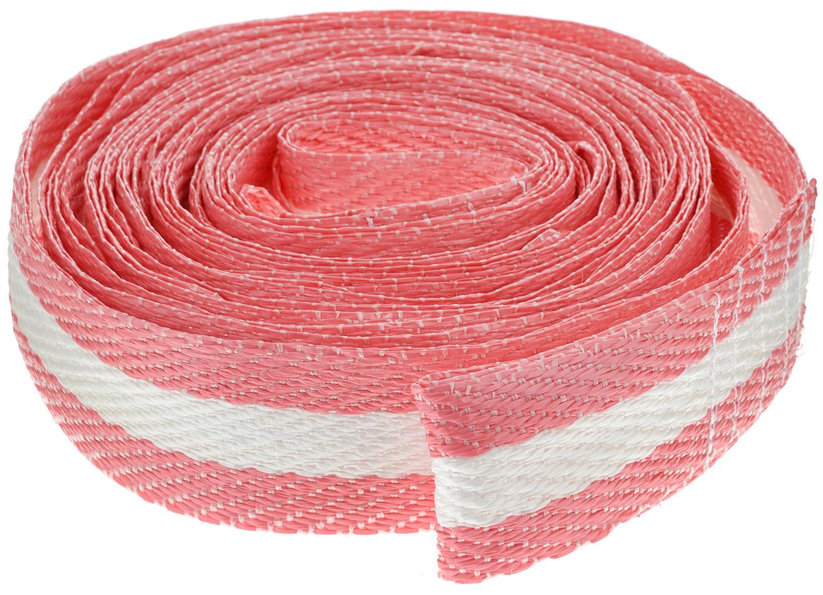 Трос буксировочный Phantom, светоотражающий, цвет: розовый, белый, 12 т, 7 м трос буксировочный avs et 10s