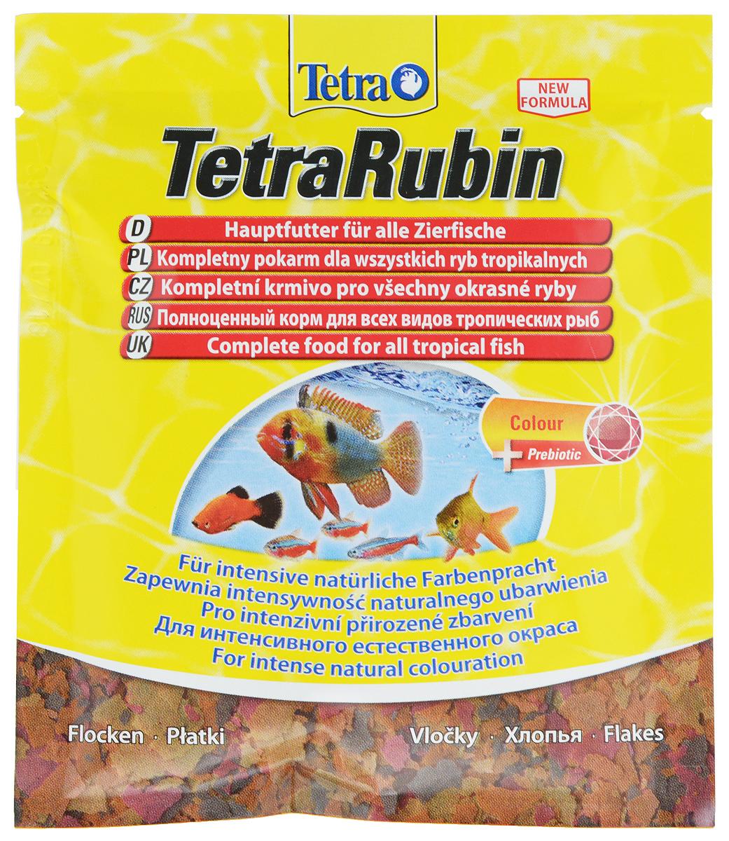 Корм Tetra TetraRubin для улучшения окраса всех видов тропических рыб, 12 г корм tetra tetramin для всех видов тропических рыб хлопья 63 г