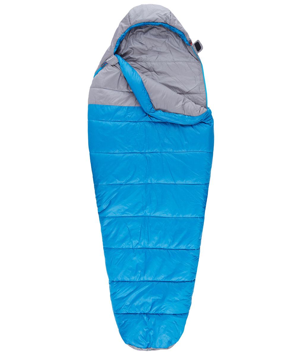 Спальный мешок The North Face Aleutian 20/-7, цвет: синий. T0A3A0M8RLH REGT0A3A0M8RLH REGCпальный мешок The North Face Aleutian 20/-7 прекрасно подойдет для путешествий, походов и рыбалки. Его можно целиком расстегнуть и расстелить в палатке. Мешок достаточно вместительный, универсальный, теплый и комфортный. Наружный и внешний слой выполнены из полиэстера. Он имеет:- капюшон,- внутренний карман,- отделение под подушку,- защита от закусывания молнии, - тепловой воротник,- тепловой валик молнии, - петли для сушки.Что взять с собой в поход?. Статья OZON Гид