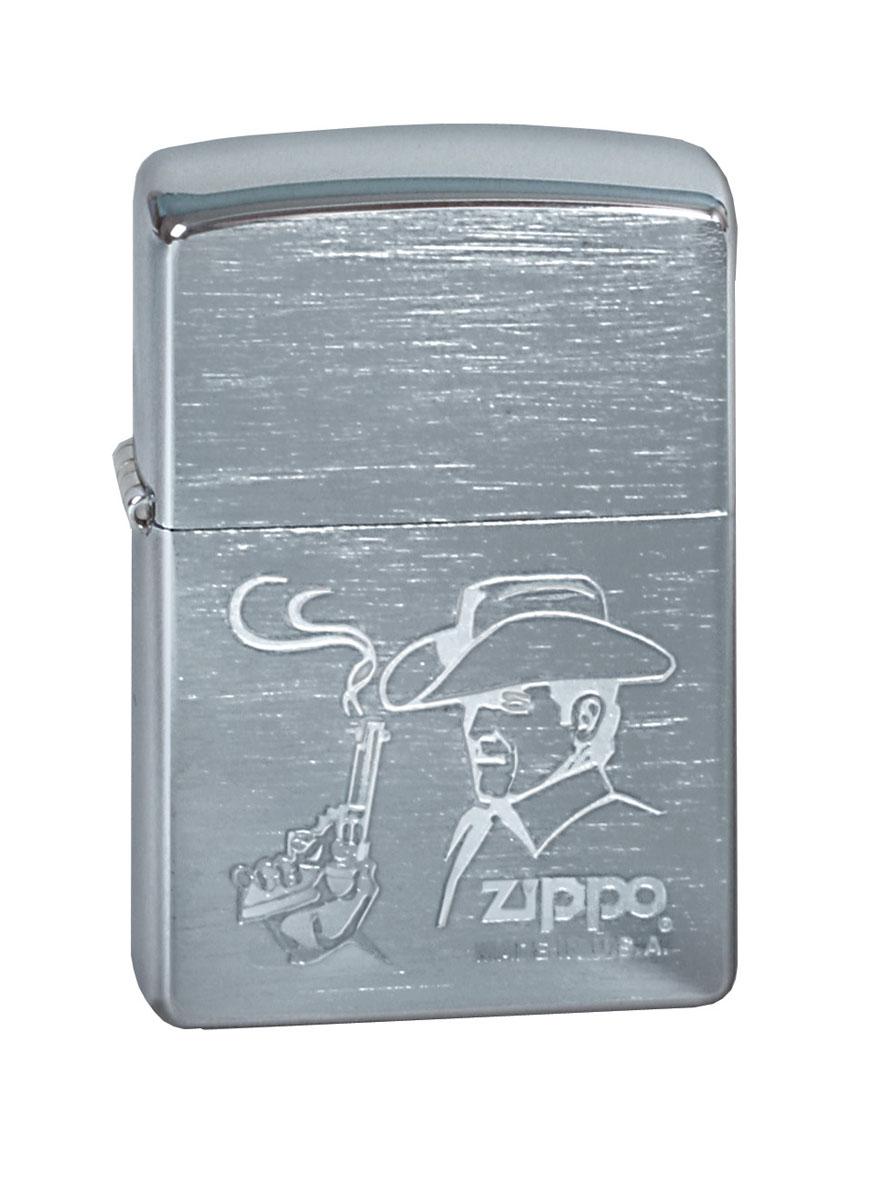 Зажигалка Zippo Classic. Cowboy, 3,6 х 1,2 х 5,6 см