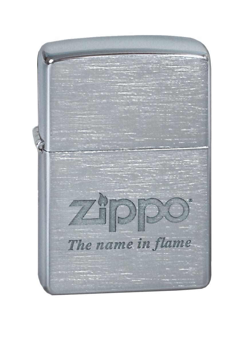 """Зажигалка Zippo """"Classic. Name In Flame"""" станет хорошим подарком курящим людям. Корпус зажигалки выполнен из высококачественной латуни и оформлен фирменным логотип с девизом компании. Изделие ветроустойчиво - легко приводится в действие на улице.  Стиль начинается с мелочей - окружите себя достойными стильными предметами."""