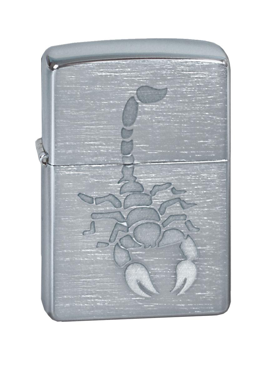Зажигалка Zippo Classic. Scorpion, 3,6 х 1,2 х 5,6 см200 ScorpionЗажигалка Zippo Classic. Scorpion станет хорошим подарком курящим людям. Корпус зажигалки выполнен из высококачественной латуни и оформлен изображением скорпиона. Изделие ветроустойчиво - легко приводится в действие на улице.Стиль начинается с мелочей - окружите себя достойными стильными предметами.