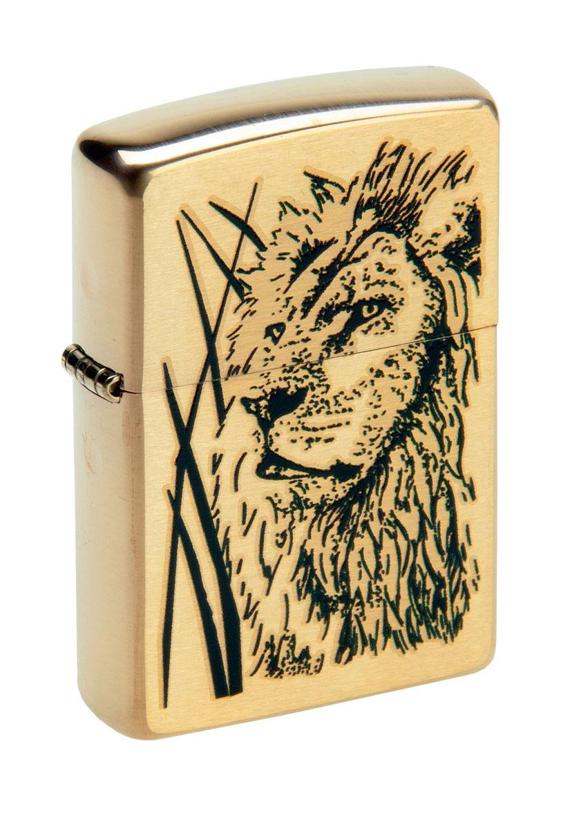 """Зажигалка Zippo """"Classic. Proud Lion"""", 3,6 х 1,2 х 5,6 см"""