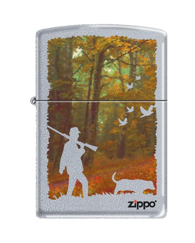 Зажигалка Zippo Classic. Hunting, 3,6 х 1,2 х 5,6 см zippo зажигалку в архангельске