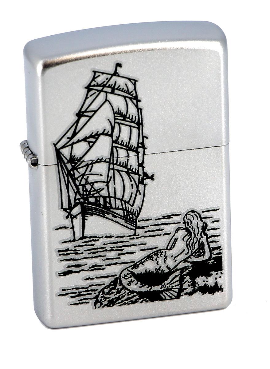 Зажигалка Zippo Classic. Mermaid, 3,6 х 1,2 х 5,6 см205 MermaidЗажигалка Zippo Classic. Mermaid станет хорошим подарком курящим людям. Корпус зажигалки, выполненный из высококачественной латуни с покрытием, оформлен изображением корабля и русалки. Изделие ветроустойчиво - легко приводится в действие на улице.Стиль начинается с мелочей - окружите себя достойными стильными предметами.