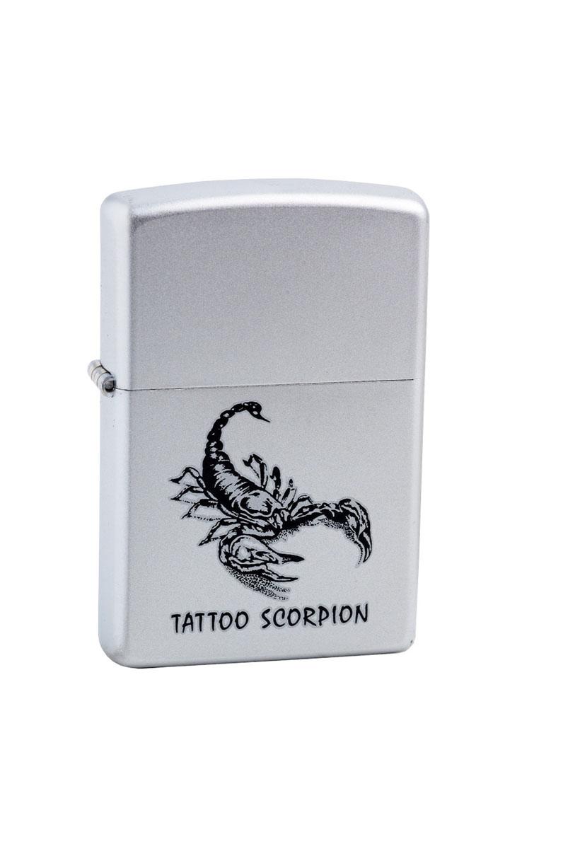 Зажигалка Zippo Classic. Tattoo Scorpion, 3,6 х 1,2 х 5,6 см205 Tattoo ScorpionЗажигалка Zippo Classic. Tattoo Scorpion станет хорошим подарком курящим людям. Корпус зажигалки, выполненный из высококачественной латуни с покрытием, оформлен изображением скорпиона и надписью. Изделие ветроустойчиво - легко приводится в действие на улице.Стиль начинается с мелочей - окружите себя достойными стильными предметами.