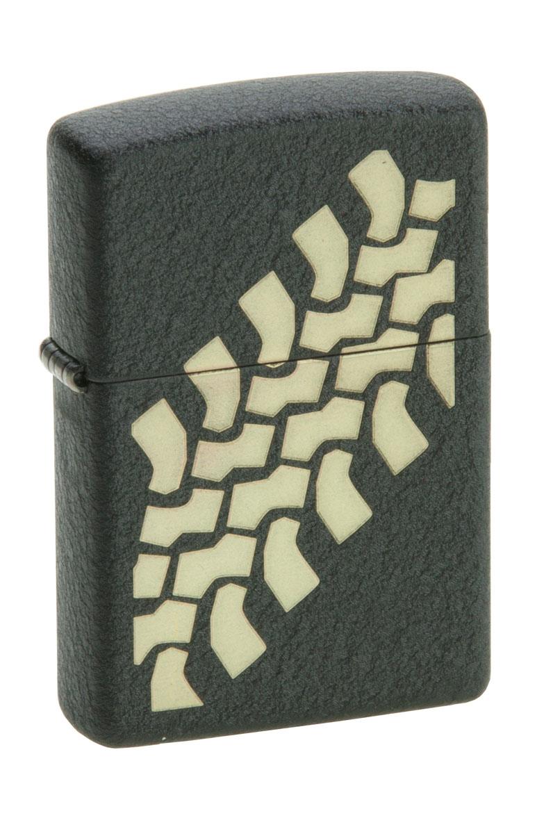 Зажигалка Zippo Classic. Tire Tracks, 3,6 х 1,2 х 5,6 см