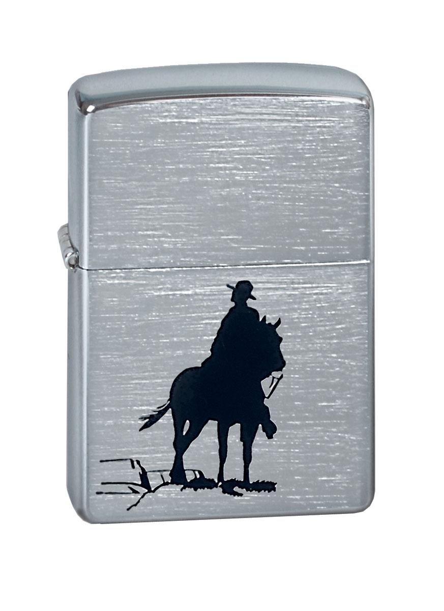 Зажигалка Zippo Classic. Broncо, 3,6 х 1,2 х 5,6 см zippo зажигалку в архангельске