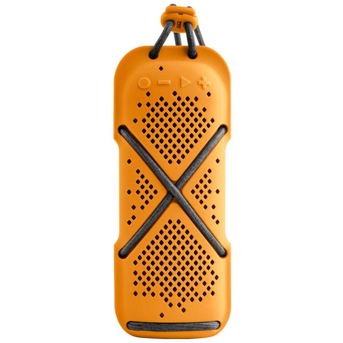 Microlab D22, Orange портативная акустическая система80535Microlab D22 - портативная акустическая система необычной формы с FM-радио и слотом для карт памятиMicroSD. Отлично подойдет для людей, ведущих активный образ жизни. Модель способна стать прекраснымспутником как на небольшом пикнике на природе, так и в долгом походе. Благодаря силиконовому покрытию корпуса, сателлит прощает слушателю небольшие ударные воздействия, атакже прекрасно переносит как росу, так и небольшой дождик, что наряду с пылью, может стать фатальным длядругих портативных акустических систем.Несмотря на компактные размеры, Microlab D-22 приятно удивит вас качеством звучания. Небольшие размерысистемы обеспечивают портативность системы, она не занимает много места и поместится в любом рюкзакеилисумке, а идущий в комплекте шнурок способен закрепить сателлит в походном варианте, позволяя избежатьпотери колонки.Поддержка Bluetooth 4.0. Наряду с высоким качеством передачи сигнала в беспроводном режиме, данная версия Bluetooth позволяетэкономить энергию сателлита, что очень важно при долгом путешествии или походе.Встроенный микрофонВ Bluetooth-режиме при входящем звонке на телефон, можно ответить на звонок через сателлит. Благодарявстроенному в колонку микрофону, телефон искать не обязательно.От 6 часов музыкиДлительность работы сателлита зависит от уровня громкости прослушивания, кроме того, зарядка от USB- портадает возможность без проблем подзаряжать колонку от внешних аккумуляторов, делая продолжительностьиспользования системы практически неограниченным.Разделение каналов: 60 дБГармонические искажения: Тип широкополосного динамика: 1,5 дюйма Литиевая батарея: 1200 мАч