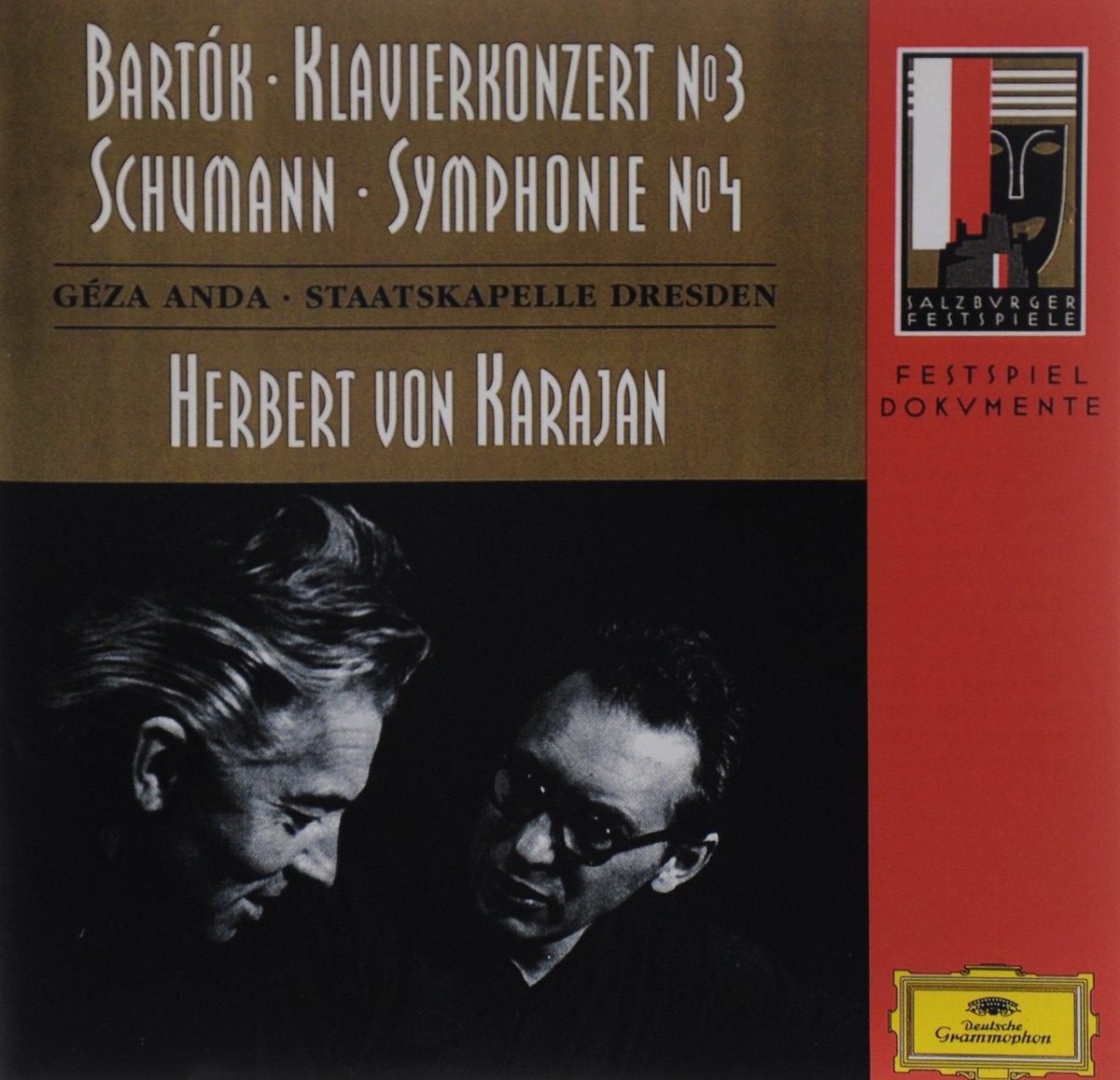 Геза Анда,Staatskapelle Dresden Herbert von Karajan. Bartok. Klavierkonzert №3 / Schumann. Symphonie №4
