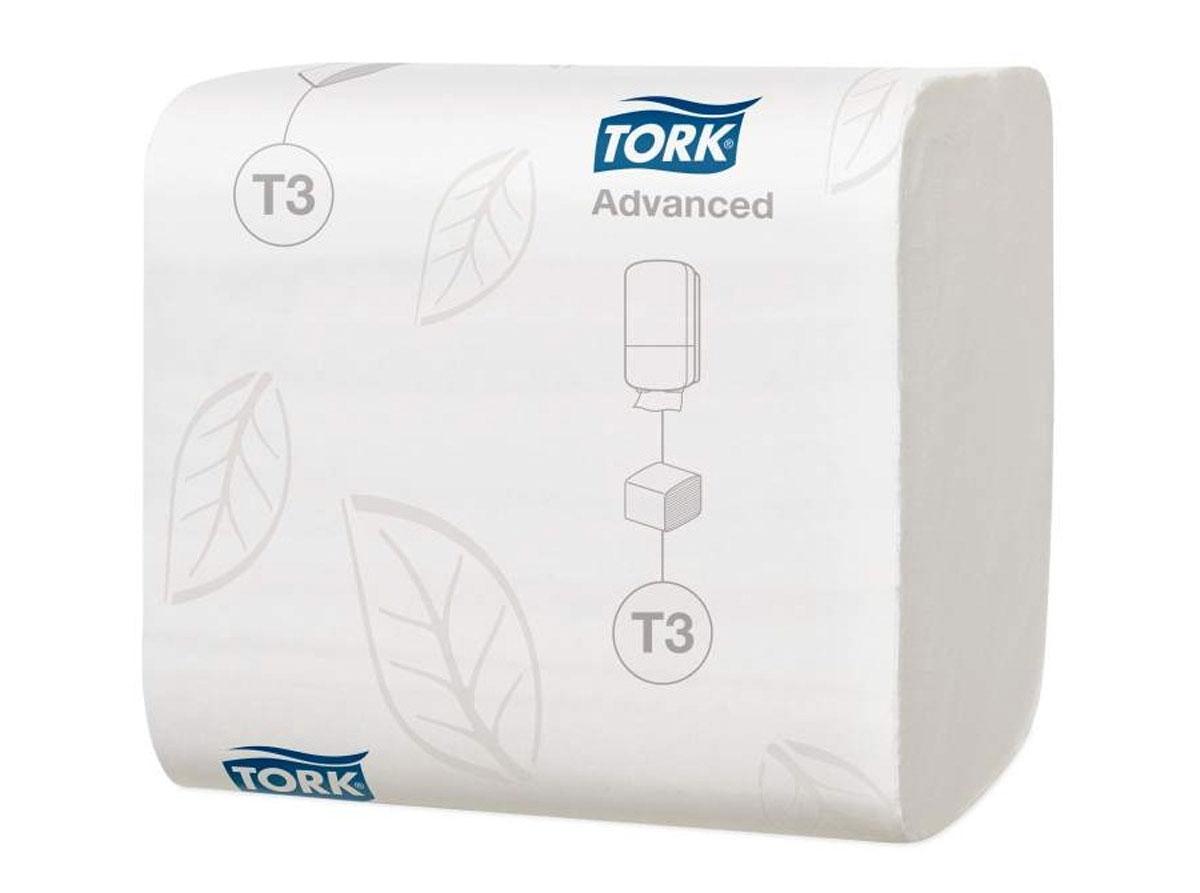 Tork листовая туалетная бумага мягкая 2сл 242л, коробка 36 шт дозатор tork image design 460010