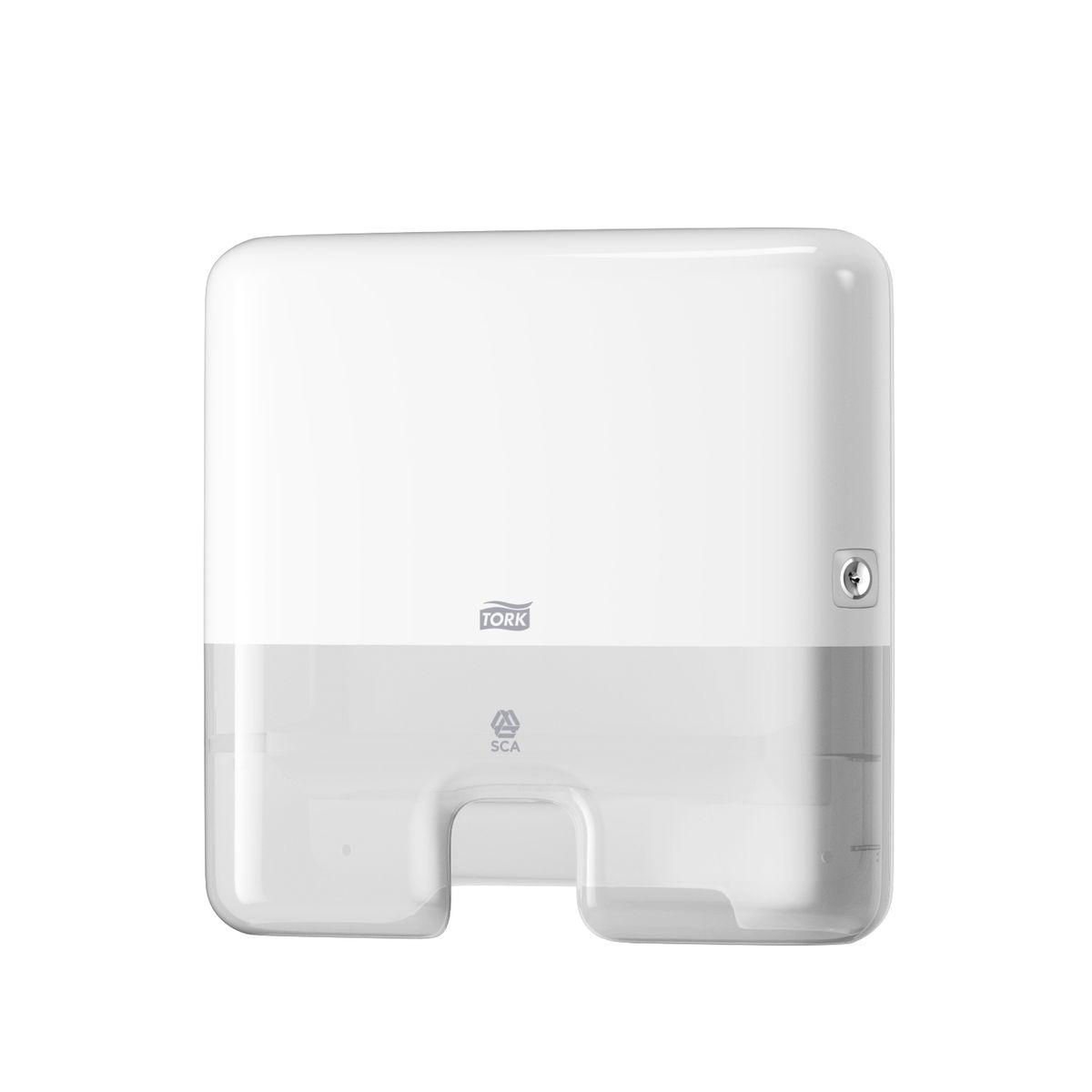 Держатель для бумажных полотенец Tork Система H2, цвет: белый552100Диспенсер для бумажных полотенец Torkпредназначен для использования с узкопанельными полотенцами, сложенными двойным зигзагом (только для полотенец шириной до 21 см). Полотенце при отборе разворачивается полностью, что сокращает расход бумаги. Ультратонкий дизайн - подходит для туалетных комнат любой площади. Диспенсеры Tork Elevation имеют функциональный современный дизайн, который надолго оставляет у гостей приятное впечатление.Диспенсер Tork для листовых полотенец подходит для мест с высоким уровнем комфорта для посетителей - например, ресторанов, офисов и медицинских центров.Полистовой отбор позволяет снизить стоимость эксплуатации и образование отходов. Полотенца легко пополнять - бумага никогда не закончится неожиданно. Легкое обслуживание благодаря защите от переполнения.