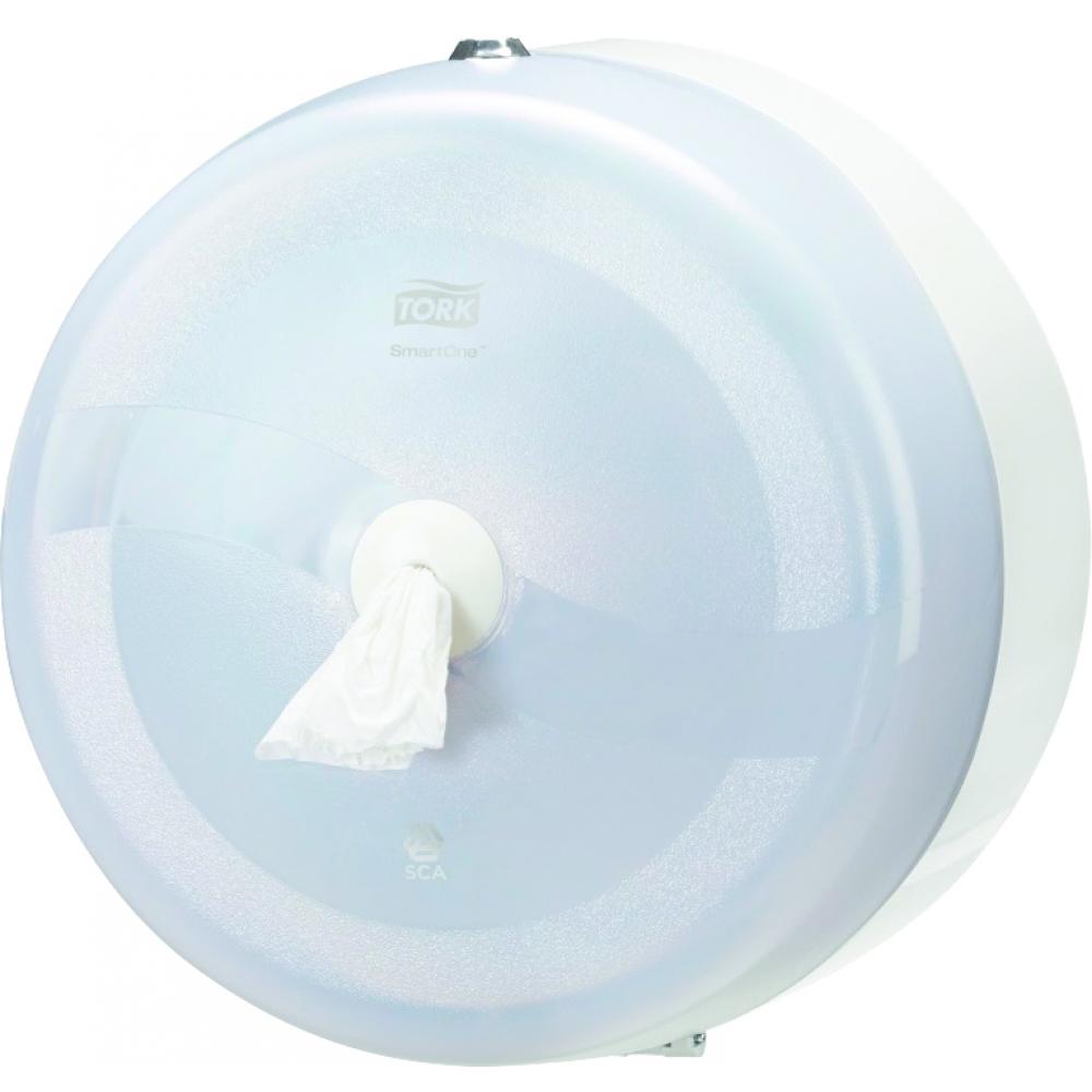 Диспенсер для туалетной бумаги Tork, цвет: белый. 472022472022Система Т8 - бумага в рулонах с центральной вытяжкойЯркий синий цвет, высокая прочность и долговечность - главные качество Tork диспенсеров серии Wave.Обладает противоударной и противопожарной защитой, закрывается на металлический замок.Выдает туалетную бумагу Торк короткими листами - это отличное решение для исключения перерасхода бумаги.Расход бумаги уменьшается на 40 процентов.Съемная втулка легко вынимается, оставляя свободным конец рулона (технология SmartCore TM).Подходит для мест с высокой проходимостью: школы, торговые центры, больницы, вокзалы, аэропорты.Гигиеничность использования - бесконтактный отбор бумагиПрочная конструкция из поликарбоната: антивандальные свойства