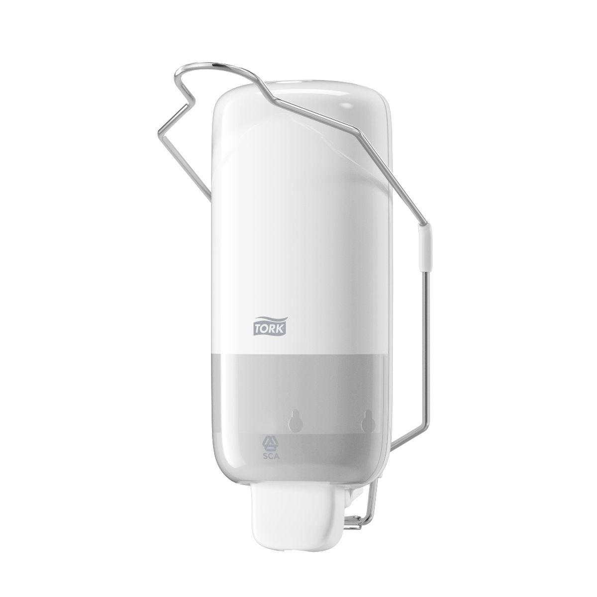 Диспенсер для мыла Tork, цвет: белый. 560100560100Диспенсер с локтевым приводом предназначен для объектов с особенно высокими требованиями к стандартам гигиены (пищевое производство, медицина) либо для участков, где степень загрязнения рук такова, что использование обычного диспенсера будет негигиеничным (например, автосервисы).Дозатор предназначен для одного стандартного картриджа мыла Tork. Избежать протекания и засорения приспособления позволяет надежная система дозирования средства. Локтевой привод - для помещений с повышенными гигиеническими требованиями. Надежная система подачи мыла - экономичный расход, исключает протекание. Ударопрочный пластик - отвечает всем требованиям гигиены. 1000 порций мыла.