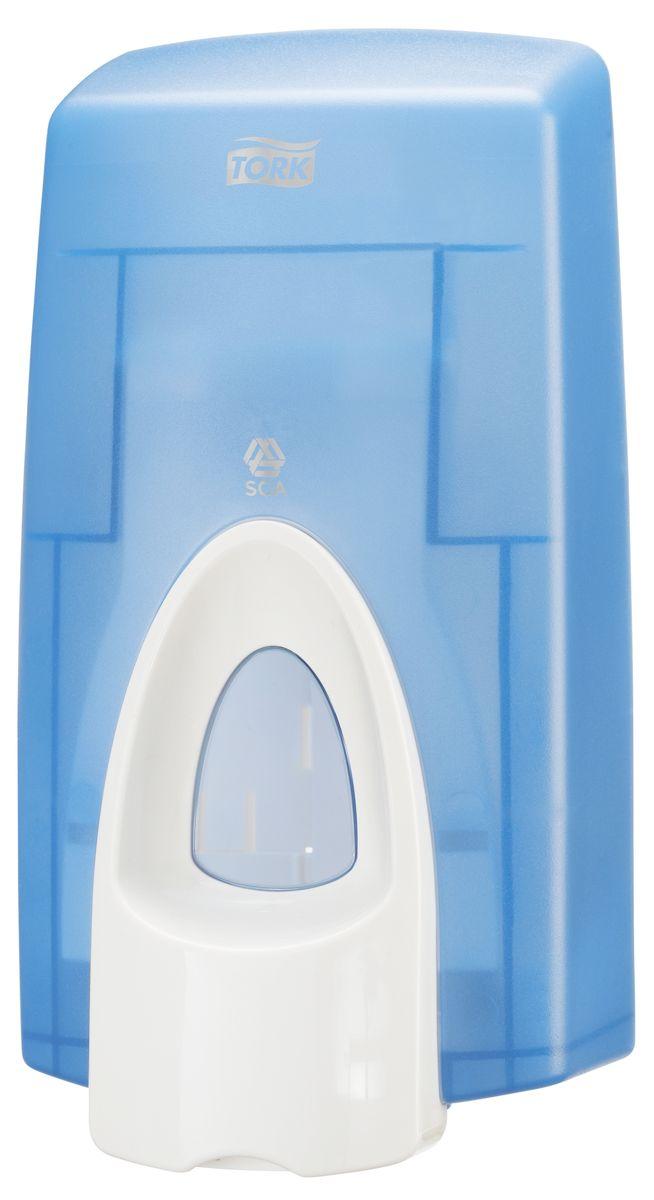 Диспенсер для мыла Tork, цвет: голубой. 470210