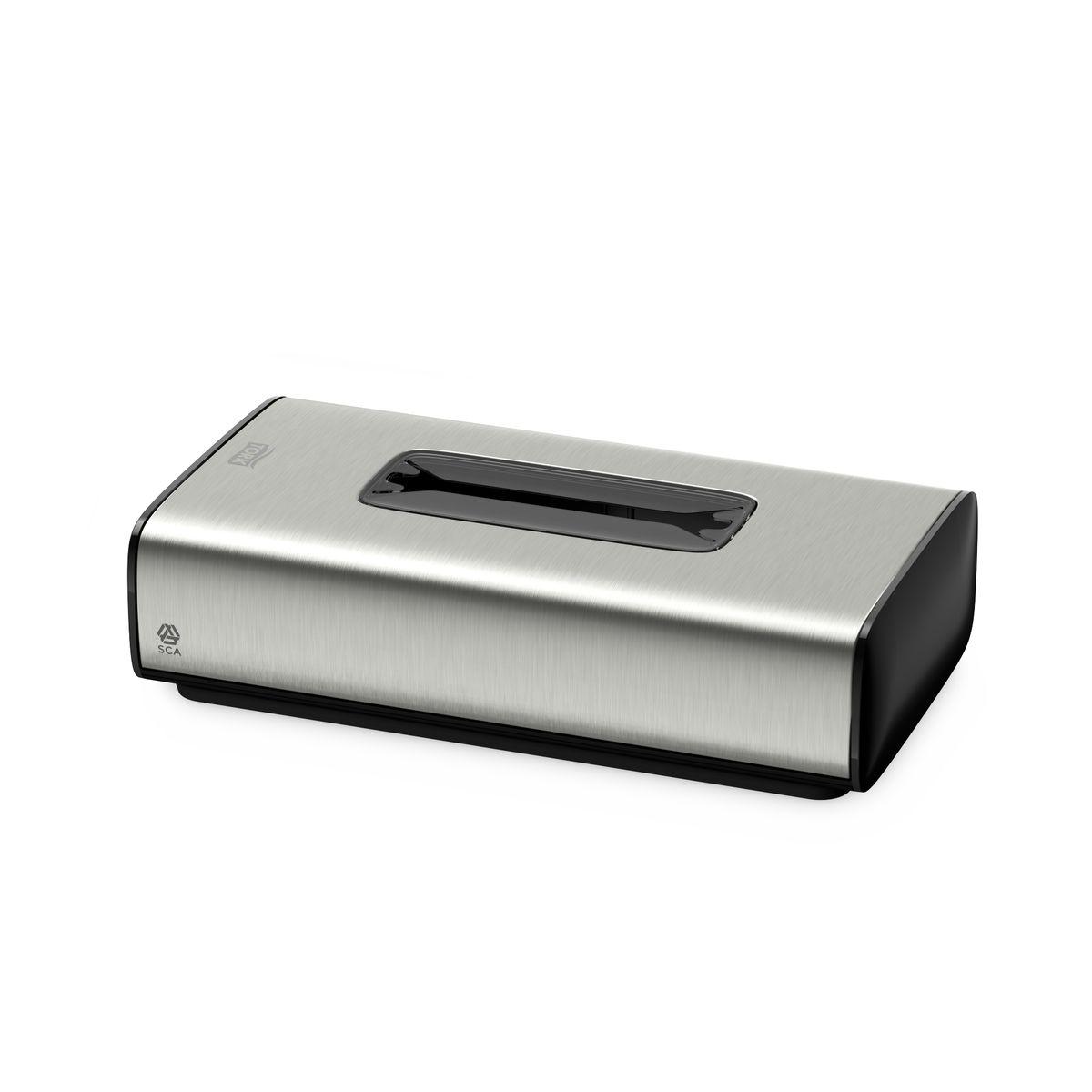 Диспенсер для бумажных полотенец Tork, цвет: металл. 460013460013Tork диспенсер для салфеток для лица обеспечивает фиксацию салфеток и защиту от повреждений и кражи, подходит для любой туалетной комнаты. Стильный дизайн - подходит к любой туалетной комнате.Имеет антискользящее покрытие.Возможность крепления на стену.