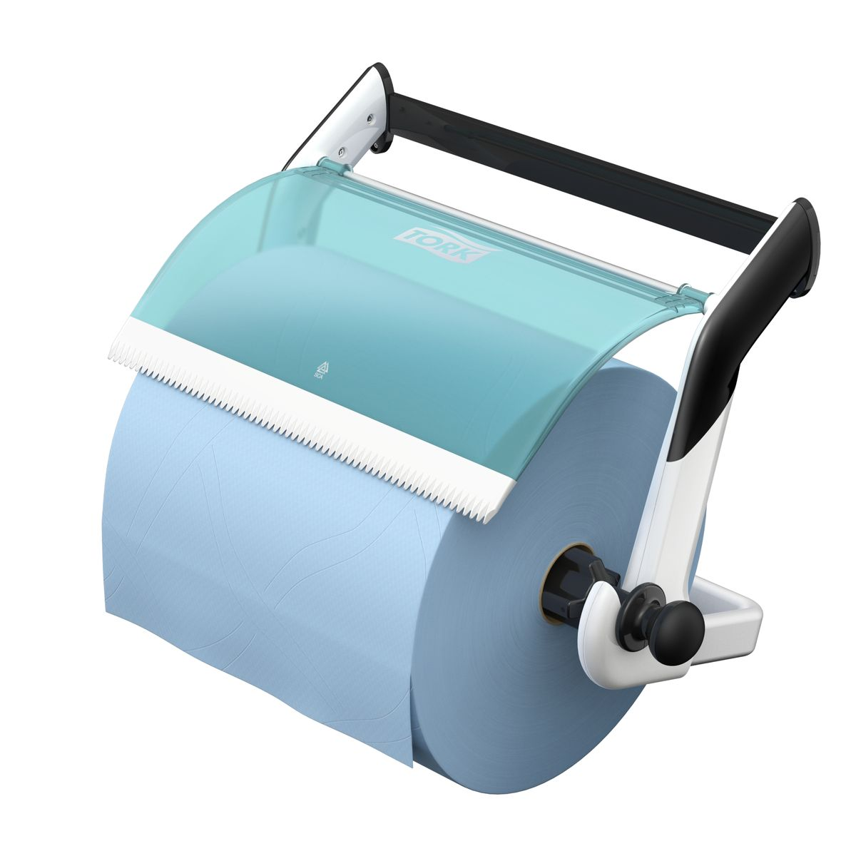 Диспенсер для туалетной бумаги Tork, цвет: белый . 652100652100Держатель для протирочных материалов Tork.Настенный держатель обладает прочной конструкцией и позволит сэкономить место.Быстро и легко менять расходный материал.