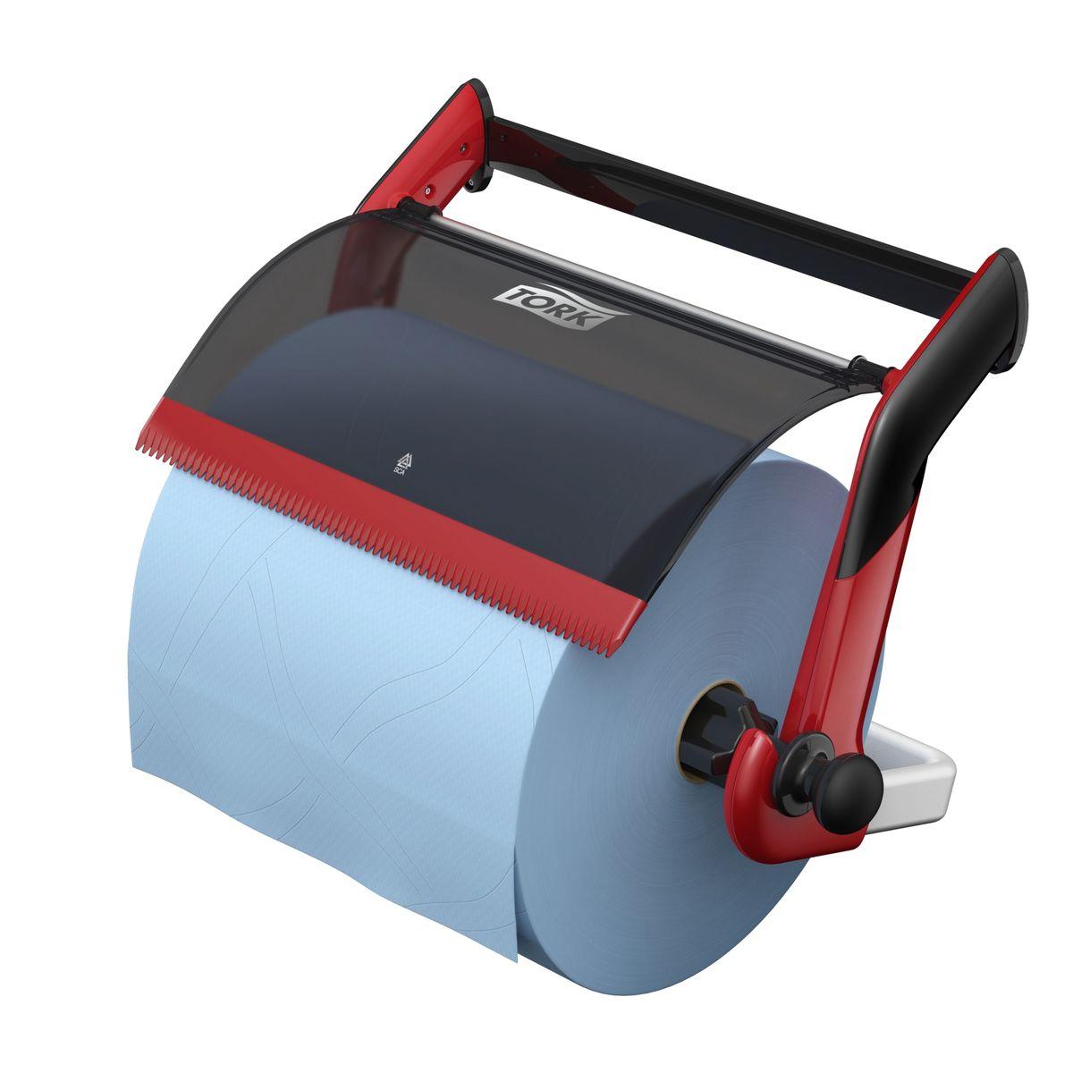 Диспенсер для туалетной бумаги Tork, цвет: красный. 652108652108Держатель для протирочных материалов Tork.Настенный держатель обладает прочной конструкцией и позволит сэкономить место.Быстро и легко менять расходный материал.