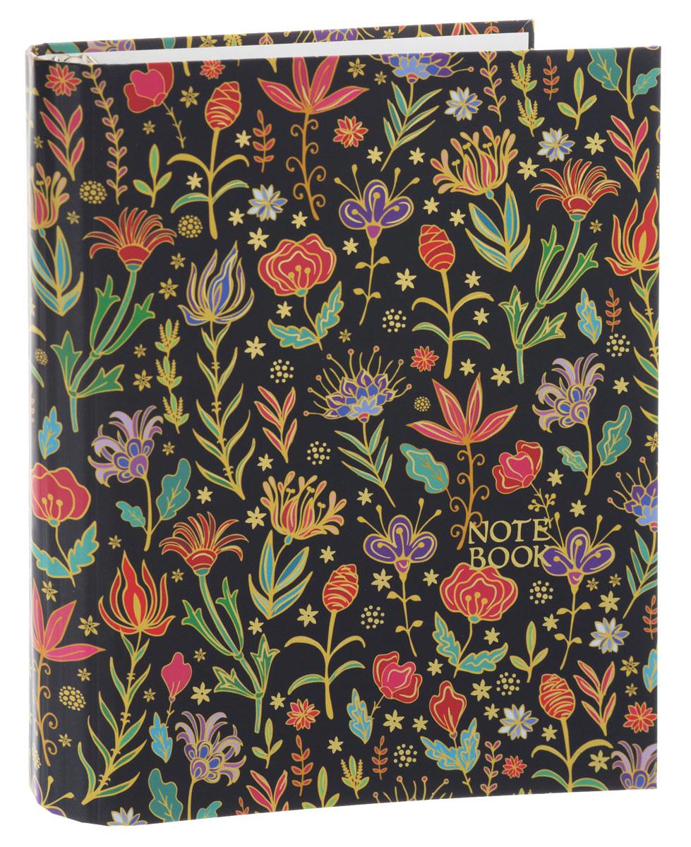 Listoff Тетрадь Золотые цветы 120 листов в клетку тетрадь flowers 120 листов на кольцах n813