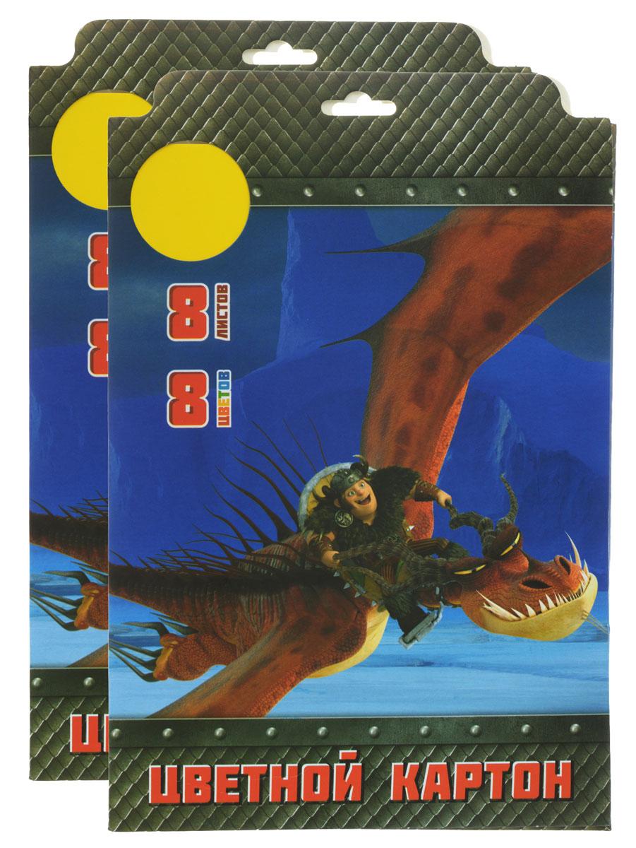 Action! Набор цветного картона Dragons 8 листов 2 шт action набор цветного картона strawberry shortcake 8 листов 2 шт