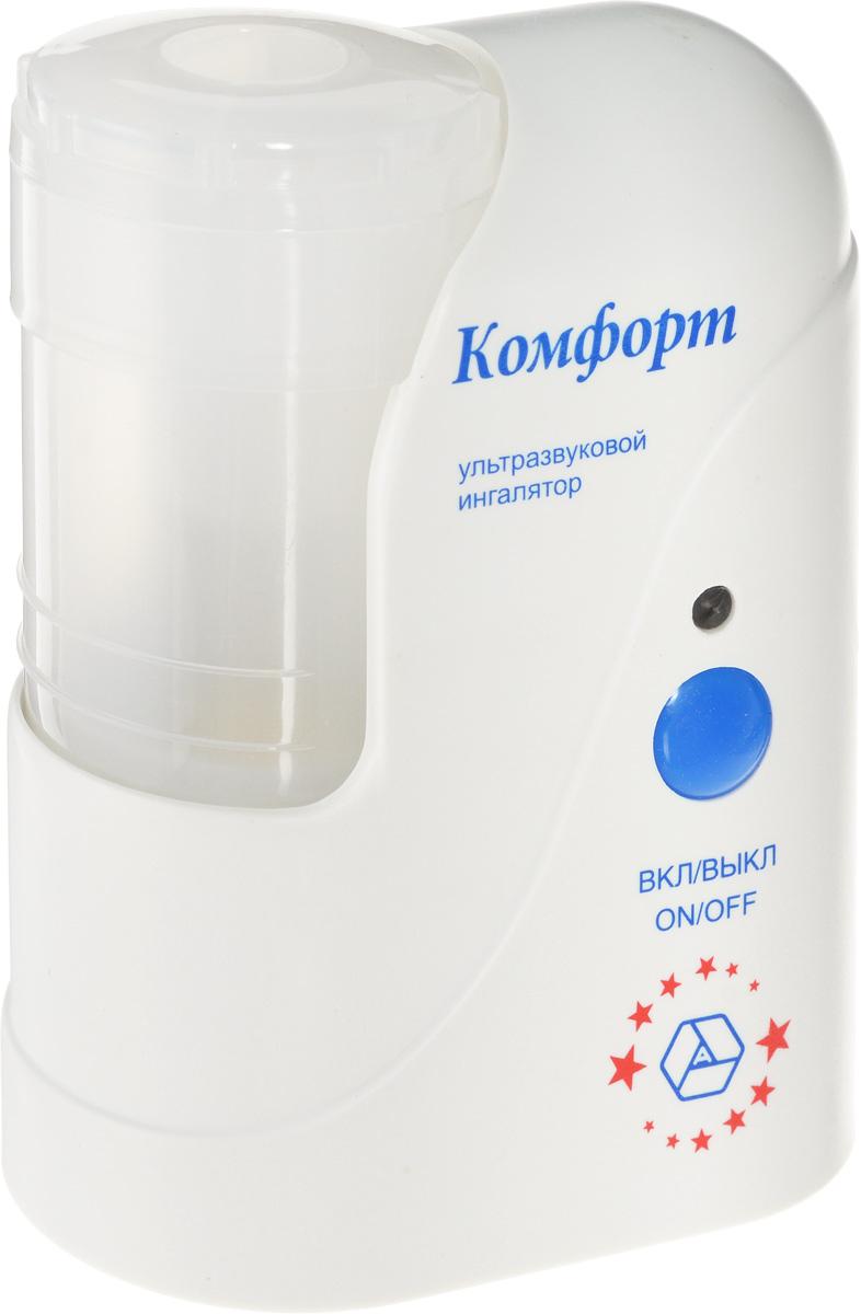 Ультразвуковой ингалятор Муссон-2-02 Комфорт FlyМуссон-2-02Ингалятор Муссон-2-02 эффективно распыляет лекарственный раствор и отлично обеспечивает ингаляцию верхних и нижних дыхательных путей. Комплектация включает все необходимое для проведения процедуры как взрослым, так и маленьким детям.Прибор состоит из пластмассового корпуса и жестко соединенной с ним распылительной камеры с крышкой и штуцером На дне камеры установлен ультразвуковой излучатель(пьезоэлемент).Корпус ингалятора изготовлен из гигиеничной пластмассы высшего сорта, что обусловливает безвредность при использовании, современный высокоэстетичный и эргономичный дизайн. При изготовлении электронной схемы прибора использованы современные высокостабильные электронные элементы. Благодаря этому достигнута высокая надежность прибора, его безопасность, небольшие габариты и вес и, как следствие, удобство применения.Ультразвуковой излучатель расположен на дне распылительной камеры. Он обеспечивает производство аэрозоля лекарственного раствора при включении прибора. На распылительной камере имеются две кольцевые риски - нижняя и верхняя. Нижняя - указывает на уровень воды, заливаемой в камеру, перед установкой стаканчика с лекарственным раствором. Верхняя - обозначает верхний уровень лекарства в стаканчике, установленном в камеру.Интенсивность распыления: 0-1 мл/ минРазмер частиц аэрозоля: не более 4 мкмОбъем камеры для распыления: 14 млЧастота: 2,64 МГц