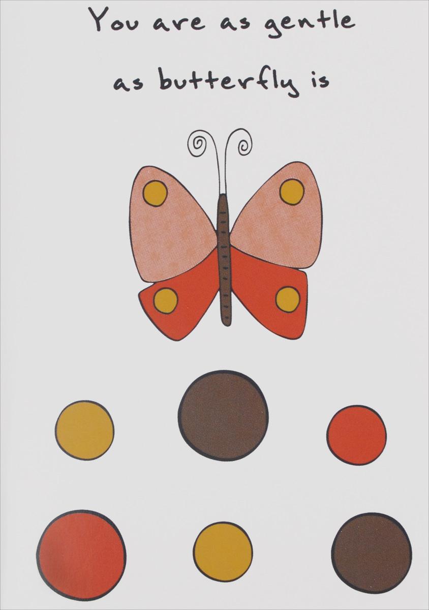 You Are As Gentle As Butterfly Is. Блокнот для записей блокнот в пластиковой обложке mind ulness лаванда формат малый 64 страницы