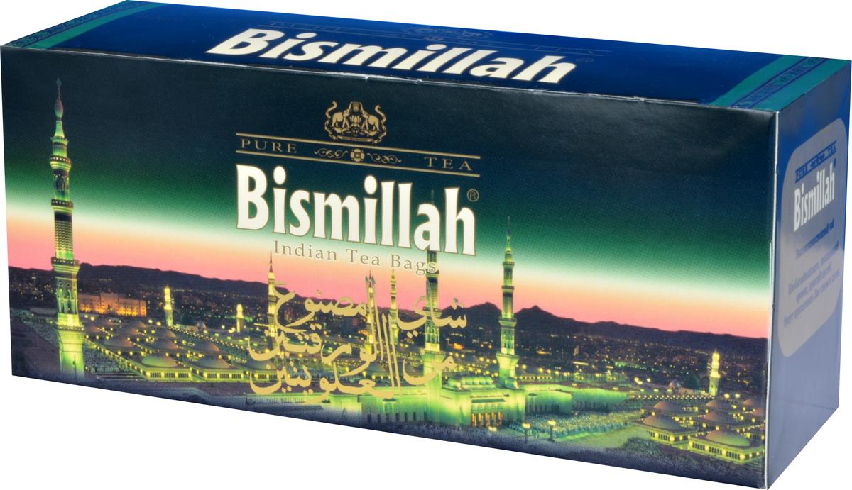Bismillah Green черный чай в пакетиках, 25 штB-BIN-180Bismillah Green - высококачественный черный чай с необычайным вкусом, насыщенным ароматом и крепким настоем, который будет притягивать вас снова и снова.